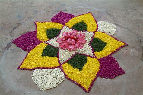 design flower rangoli diwali easy diwali rangoli designs with flowers 2017