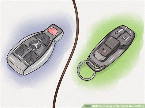 Mercedes Key Fob Battery Replacement by How To Change A Mercedes Key Battery With Pictures Wikihow