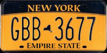 the official new york state license plate the us50