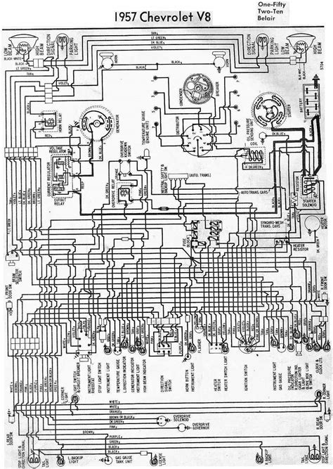 Complete Wiring Schematic Of 1957 Chevrolet V8 | All about