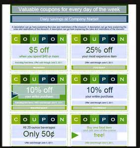 coupon template for word 7 coupon design templates word excel pdf templates