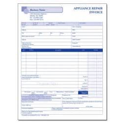 appliance repair invoices custom carbonless forms