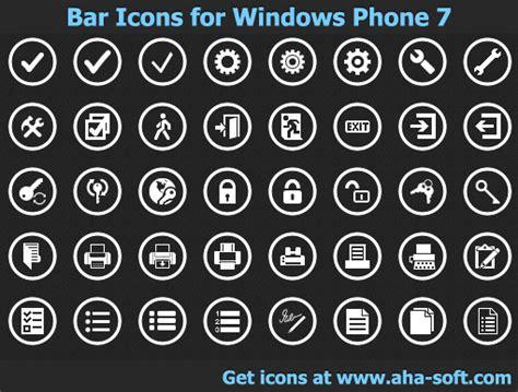 App Bar Icons for Windows Phone 7 full Windows 7 ...