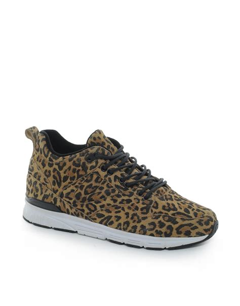 gourmet sneakers asos gourmet the 35 leopard sneakers in brown for lyst