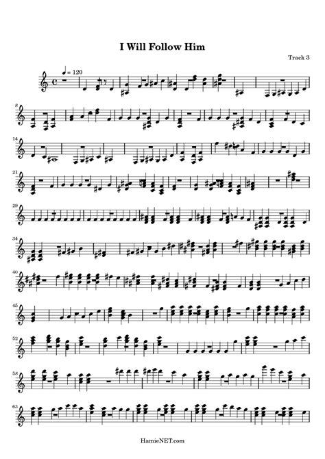 I Will Follow Him Sheet Music - I Will Follow Him Score