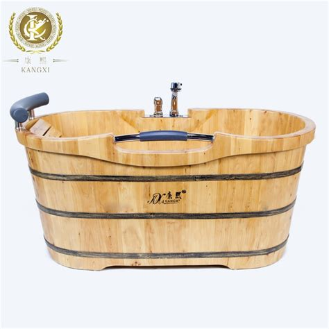 buy wooden bathtub wooden bathtub with faucet portable shower tub adult tub