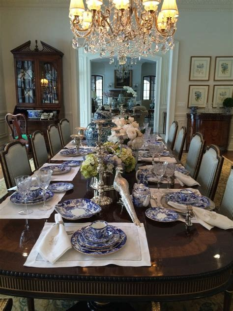 371 Best Blue Willow Table Settings Images On Pinterest