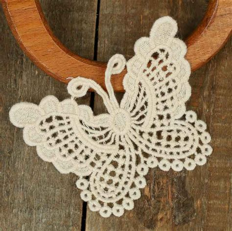 Ivory Butterfly Doily Appliques   Crochet and Lace Doilies