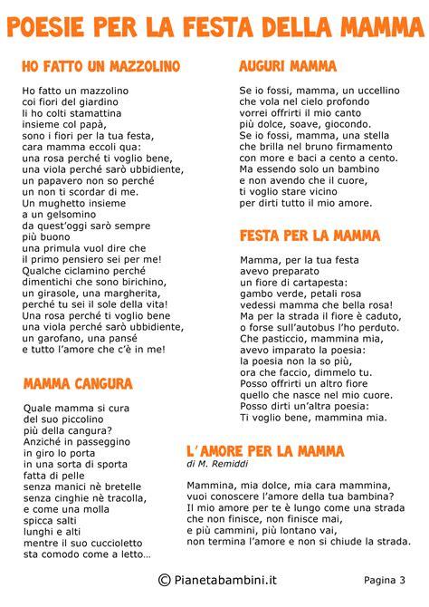 le mie poesie per te testo poesie per la festa della mamma per bambini