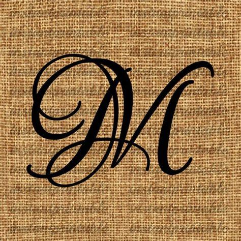 Initial M monogram initial letter m letter clip letter decal
