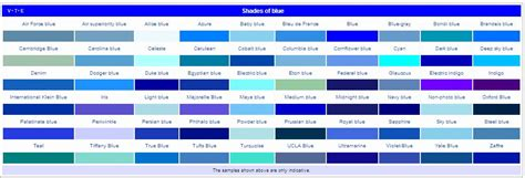 list of color paint color names list www pixshark com images