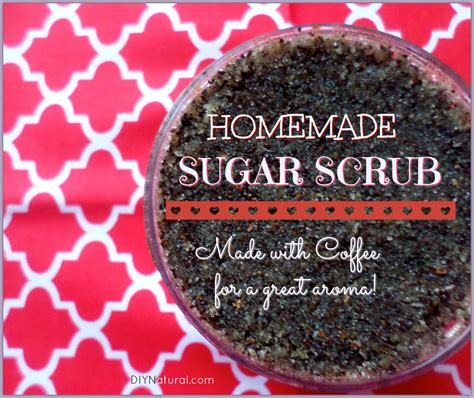 sugar scrub with coffee for and