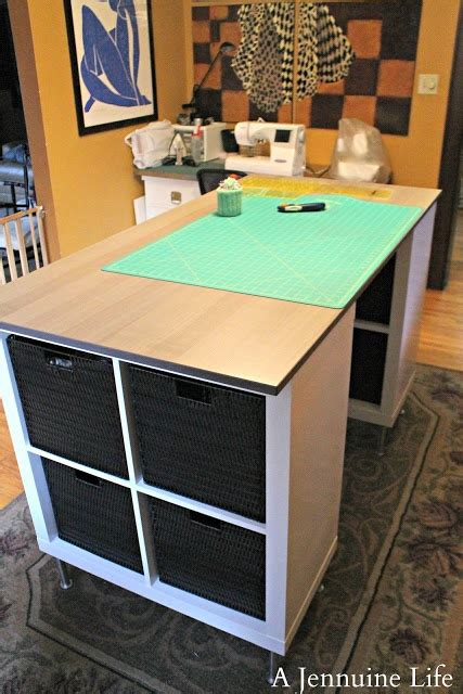 home decorators craft table so easy to make craft table use expedit bookshelf ikea