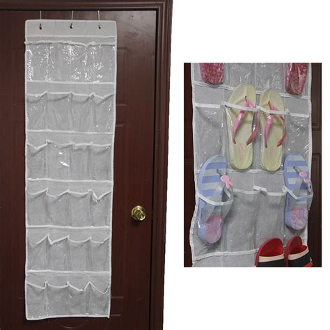 closet door organizers 24 pocket the door hanging holder shoe organizer rack room closet storage ebay