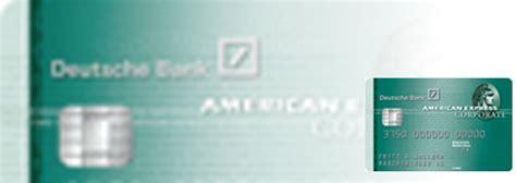 deutsche bank goldene kreditkarte deutsche bank amex corporate card im test