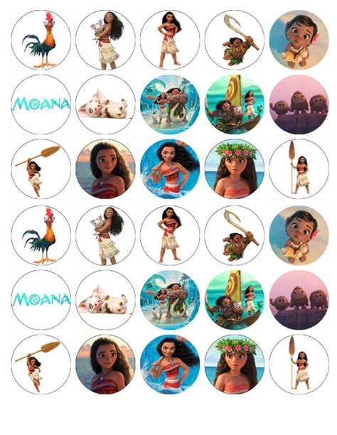 Topper Moana Ll moana edible wafer paper cake toppers birthday decorations x