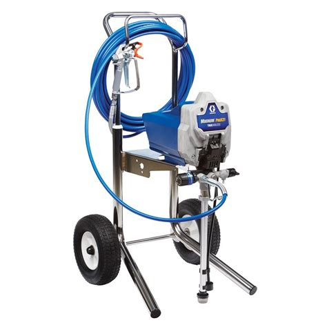 using a home depot paint sprayer graco magnum prox21 cart airless paint sprayer 17g182