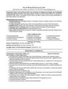 Sle Entry Level Social Work Resume Social Work Resume Objective Berathen 28 Images Resume Sles Better Written Resumes Sle