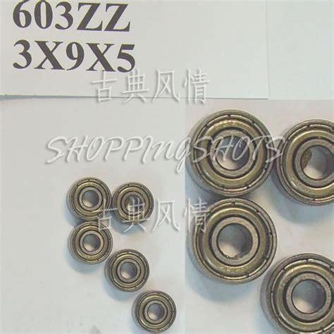 100pc 603 2z zz miniature bearings mini bearing 3x9x5 3 9 5 mm 603zz abce1 free shipping