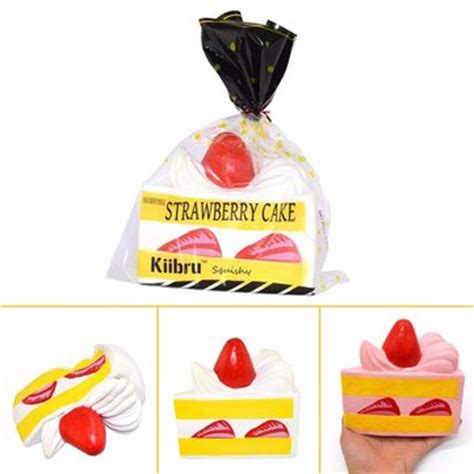 Sale Squishy Garden Strawberry Replica 7 Cm Rising kiibru strawberry cake white squishy rising 15 9 14 5cm with original packaging gift sale