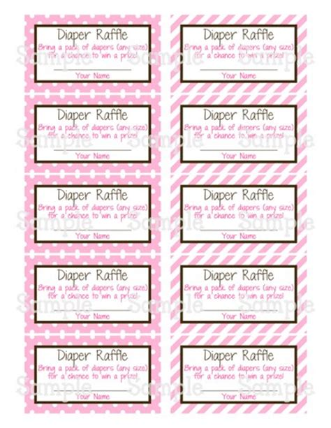 9 best images of diaper raffle free printables free