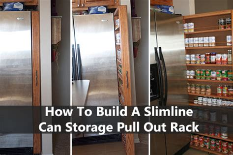 how to build a slimline can storage pull out rack shtf prepping central