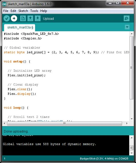 arduino tutorial array retired badgerhack learn sparkfun com