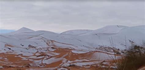 sahara snowfall rare snowfall hits the sahara desert abc news