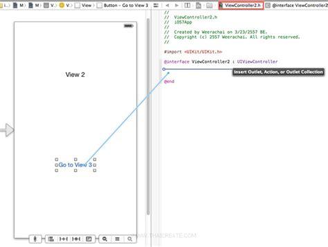 xcode segue tutorial การเช อมโยง segue and view บน storyboard ของ xcode 5 ios 7