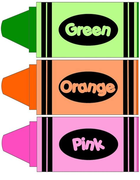 Free Color Crayon Name Card Template by 25 Unique Color Crayons Ideas On How To Make