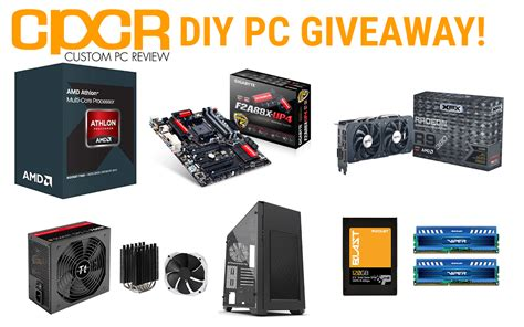 Pc Gaming Giveaway - diy custom gaming pc giveaway with amd xfx patriot thermaltake phanteks and square