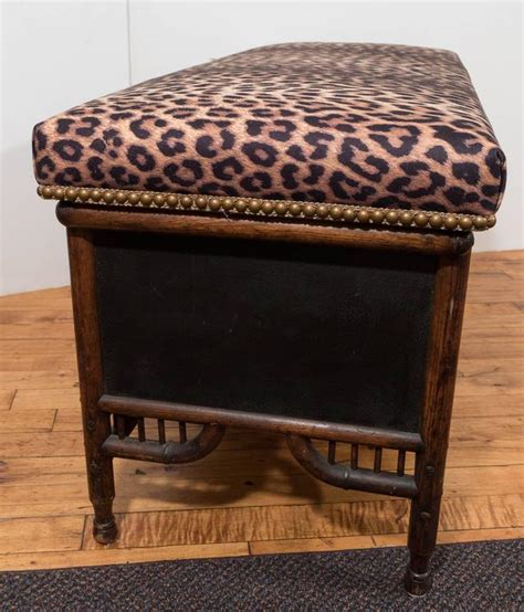 victorian storage bench victorian faux bamboo storage bench with upholstered