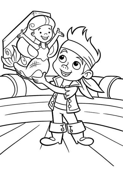 free jake and the neverland pirates coloring pages to