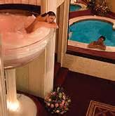 pocono palace the hotel with a glass chagne bathtub