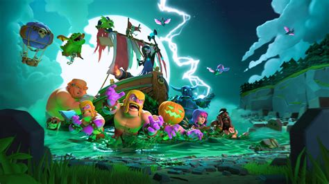 wallpaper laptop clash of clans clash of clans halloween wallpaper background 62283