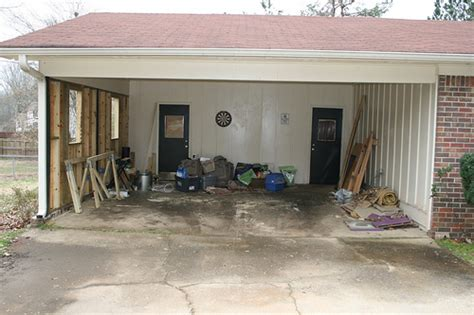 converting carport to garage building construction