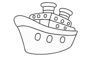 Alat Mewarnai Air Water Coloring Pensil Warna mewarnai gambar kapal