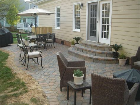 backyard paver patios what are my options for paver steps or patio steps