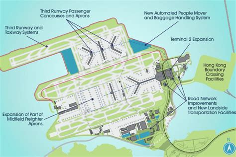 hong kong international airport floor plan hong kong green lights 18b airport expansion