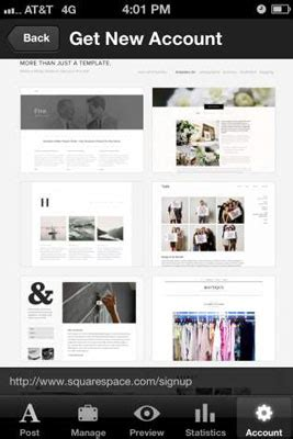 How To Manage Your Squarespace Account Via Mobile Dummies Squarespace App Template