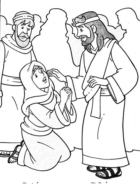 Jesus Heals The Sick Coloring Page jesus heals the sick coloring pages