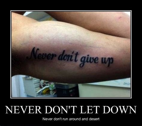 tattoo fail never don t give up give up don t never