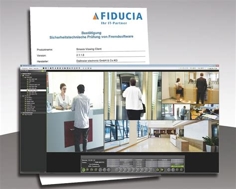 ip viewing software dallmeier smavia viewing client passes the test fiducia it
