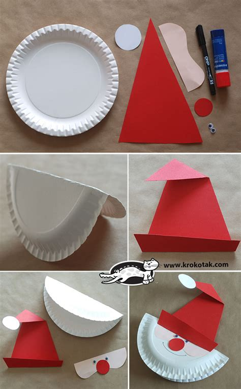 What Can You Make With A Paper Plate - krokotak make a santa paper plate