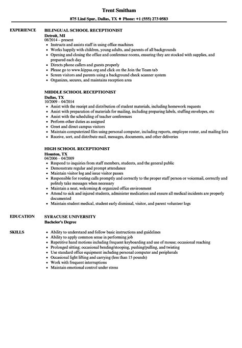 1 dentist receptionist resume templates try them now myperfectresume