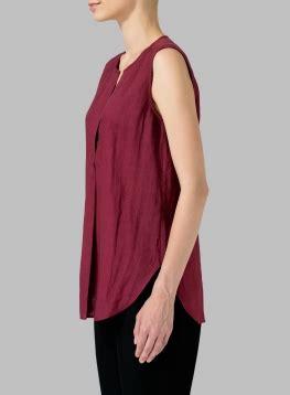 Blouse V Neck Linen linen surplice v neck blouse