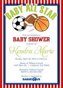 sports baby shower invitations templates sport themes baby shower invitations dolanpedia