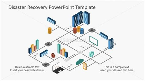 Powerpoint Diagram Of Disaster Recovery Process Disaster Recovery Powerpoint Template