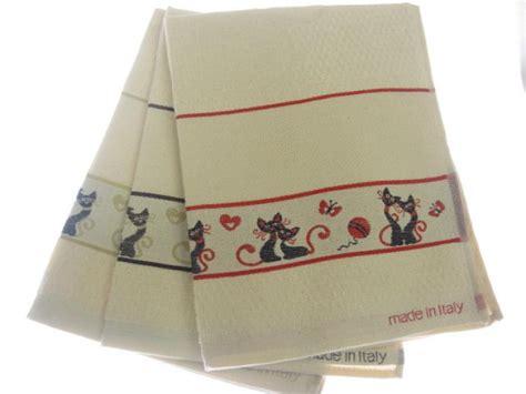 asciugamani da cucina strofinaccio asciugamani cucina in spugna quot gatti quot da