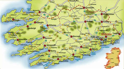 county cork ireland map co kerry map ireland mappery